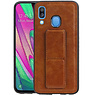 Grip Stand Hardcase Backcover Samsung Galaxy A40 Bruin