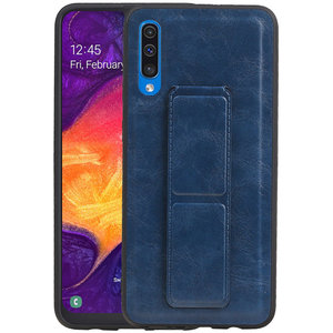 Grip Stand Hardcase Backcover voor Samsung Galaxy A50 Blauw
