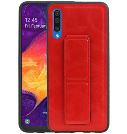 Grip Stand Hardcase Backcover Samsung Galaxy A50 Rood