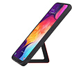 Grip Stand Hardcase Backcover voor Samsung Galaxy A50 Rood