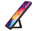 Grip Stand Hardcase Backcover voor Samsung Galaxy A50 Bruin