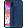 Grip Stand Hardcase Backcover Samsung Galaxy A70 Blauw