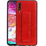 Grip Stand Hardcase Backcover Samsung Galaxy A70 Rood