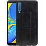 Grip Stand Hardcase Backcover Samsung Galaxy A7 (2018) Zwart