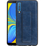 Grip Stand Hardcase Backcover Samsung Galaxy A7 (2018) Blauw