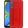 Grip Stand Hardcase Backcover Samsung Galaxy A7 (2018) Rood