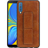 Grip Stand Hardcase Backcover Samsung Galaxy A7 (2018) Bruin