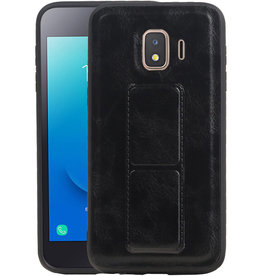 Grip Stand Hardcase Backcover Samsung Galaxy J2 Core Zwart