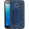 Grip Stand Hardcase Backcover Samsung Galaxy J2 Core Blauw