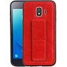 Grip Stand Hardcase Backcover Samsung Galaxy J2 Core Rood