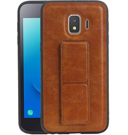 Grip Stand Hardcase Backcover Samsung  Galaxy J2 Core Bruin
