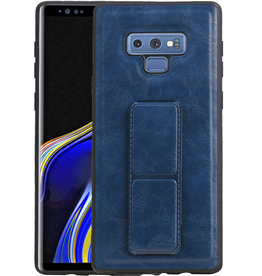 Grip Stand Hardcase Backcover Samsung Galaxy Note 9 Blauw
