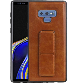Grip Stand Hardcase Backcover Samsung Galaxy Note 9 Bruin
