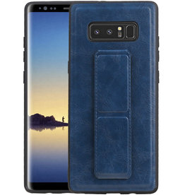 Grip Stand Hardcase Backcover Samsung Galaxy Note 8 Blauw