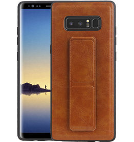 Grip Stand Hardcase Backcover Samsung Galaxy Note 8 Bruin