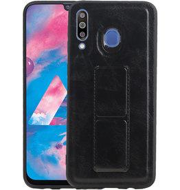 Grip Stand Hardcase Backcover Samsung Galaxy M30 Zwart