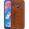 Grip Stand Hardcase Backcover Samsung Galaxy M30 Bruin