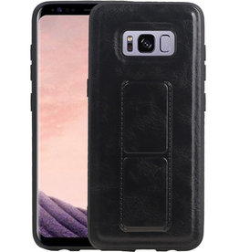 Grip Stand Hardcase Backcover Samsung Galaxy S8 Zwart