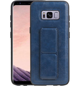 Grip Stand Hardcase Backcover Samsung Galaxy S8 Blauw