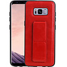 Grip Stand Hardcase Backcover Samsung Galaxy S8 Rood