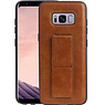 Grip Stand Hardcase Backcover Samsung Galaxy S8 Bruin
