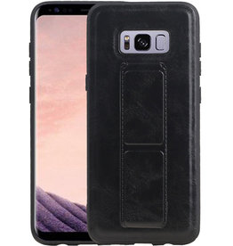 Grip Stand Hardcase Backcover Samsung Galaxy S8 Plus Zwart