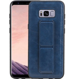 Grip Stand Hardcase Backcover Samsung Galaxy S8 Plus Blauw