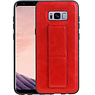 Grip Stand Hardcase Backcover Samsung Galaxy S8 Plus Rood
