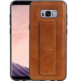 Grip Stand Hardcase Backcover Samsung Galaxy S8 Plus Bruin