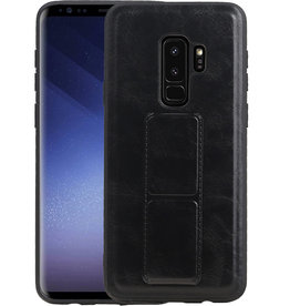 Grip Stand Hardcase Backcover Samsung Galaxy S9 Plus Zwart