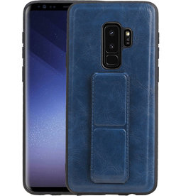 Grip Stand Hardcase Backcover Samsung Galaxy S9 Plus Blauw