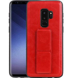 Grip Stand Hardcase Backcover Samsung Galaxy S9 Plus Rood