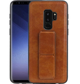 Grip Stand Hardcase Backcover Samsung Galaxy S9 Plus Bruin