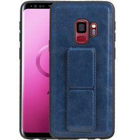 Grip Stand Hardcase Backcover Samsung Galaxy S9 Blauw