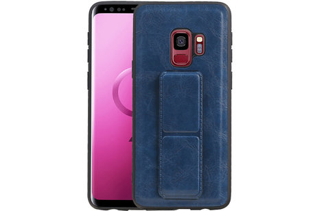 Grip Stand Hardcase Backcover voor Samsung Galaxy S9 Blauw