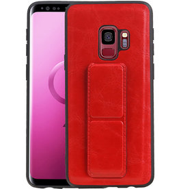 Grip Stand Hardcase Backcover Samsung Galaxy S9 Rood
