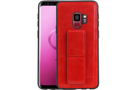 Grip Stand Hardcase Backcover voor Samsung Galaxy S9 Rood