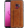 Grip Stand Hardcase Backcover Samsung Galaxy S9 Bruin