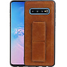 Grip Stand Hardcase Backcover Samsung Galaxy S10 Bruin