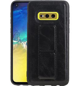 Grip Stand Hardcase Backcover Samsung Galaxy S10E Zwart