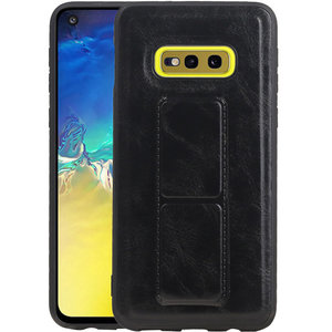 Grip Stand Hardcase Backcover voor Samsung Galaxy S10E Zwart
