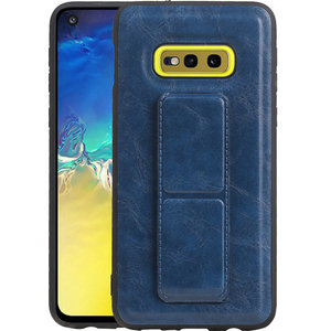 Grip Stand Hardcase Backcover voor Samsung Galaxy S10E Blauw