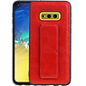 Grip Stand Hardcase Backcover Samsung Galaxy S10E Rood