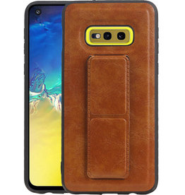 Grip Stand Hardcase Backcover Samsung Galaxy S10E Bruin