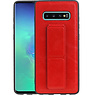 Grip Stand Hardcase Backcover Samsung Galaxy S10 Plus Rood