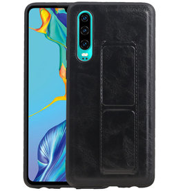 Grip Stand Hardcase Backcover Huawei P30 Zwart