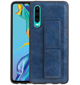 Grip Stand Hardcase Backcover Huawei P30 Blauw