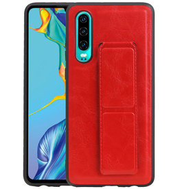 Grip Stand Hardcase Backcover Huawei P30 Rood