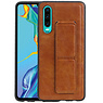 Grip Stand Hardcase Backcover Huawei P30 Bruin