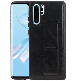 Grip Stand Hardcase Backcover Huawei P30 Pro Zwart